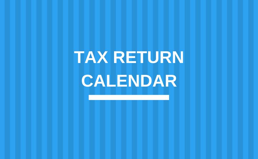 Tax Return Calendar
